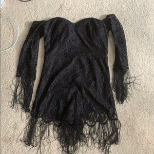 Wet Seal Other - Black Lace Romper